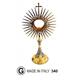 Monstrance with fusion foot h 44 cm