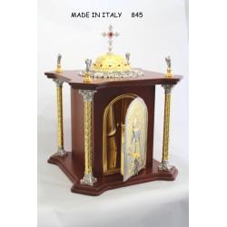 Pastorale+asta a 3 pezzi smontabile CESELLATO + croce in fusione e pecora H 176 cm