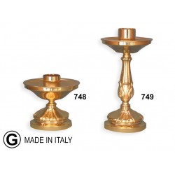 Candlestick with pans in cast H 14 cm diameter 13 cm