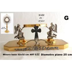 Croce da tavolo in fusione H 26 cm