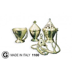 Thurible + carrycot CHISELED 21 cm diameter 12.5 H