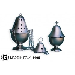 Thurible + smooth or knurled diameter carrycot 14 cm H 22.5 cm