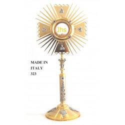 Monstrance with die-cast parts mounted H 55 cm