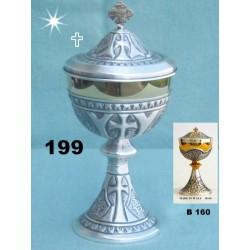 Tabernacolo in legno con porta in fusione Bronzo cm 22,5x24,5x19,5 cm