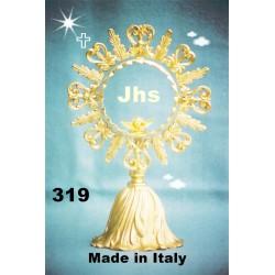 Tabernacolo in legno di Betulla con Porta e varie parti in bronzo H 68xL55xP55 cm misura porta 38x23,5