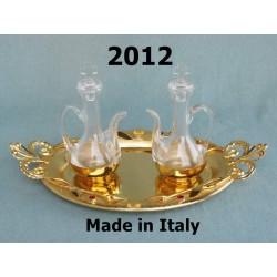 Astile cross + 2 rod pieces with 4 symbols evangelists in H 218 cm