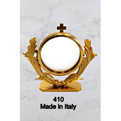 Candeliere in fusione con angioletto sulla base a 2 fiamme H 18 cm