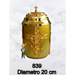 Candeliere in fusione H 95 cm bossolo 4/6/8