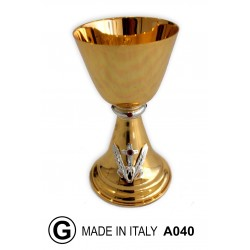 Modern chalice with spikes and cross h 18 cm 10 cm Cup