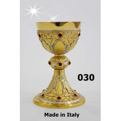 Cast glass (St. Oars ') diameter 11 cm H 20 Cup CIBORIUM ART 137